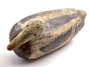 Rustic wooden duck