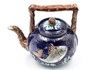 Collectable Antique - English Majolica Tea Pot