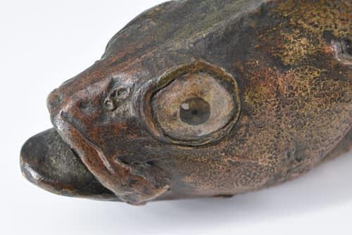 Pottery Cod fish figurine