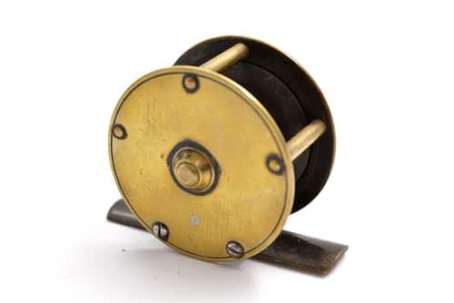 brass fishing reel