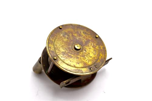 old brass reel