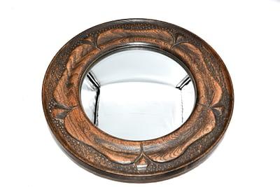 Harry Tonkin Arts and crafts convex mirror